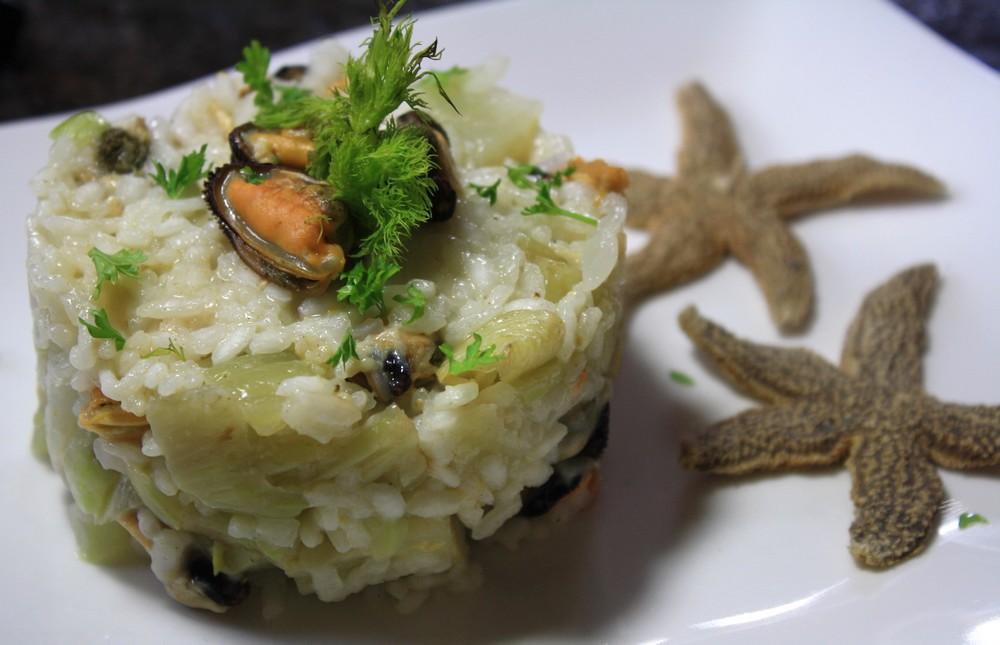 risotto de la mer moules fenouil les delices de letiss. Black Bedroom Furniture Sets. Home Design Ideas