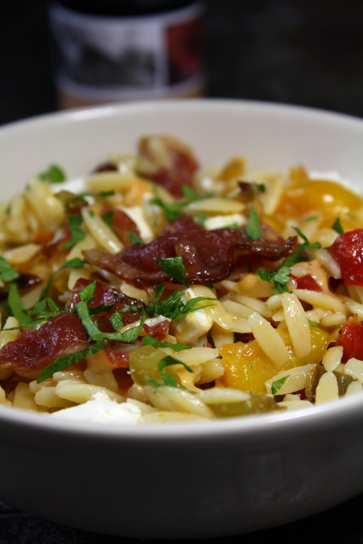 salade de p 226 tes 224 la feta poivrons coppa grill 233 s les delices de letiss