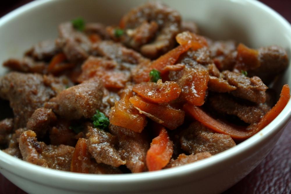 Saut de porc au caramel les d lices de letiss - Cuisiner le saute de porc ...
